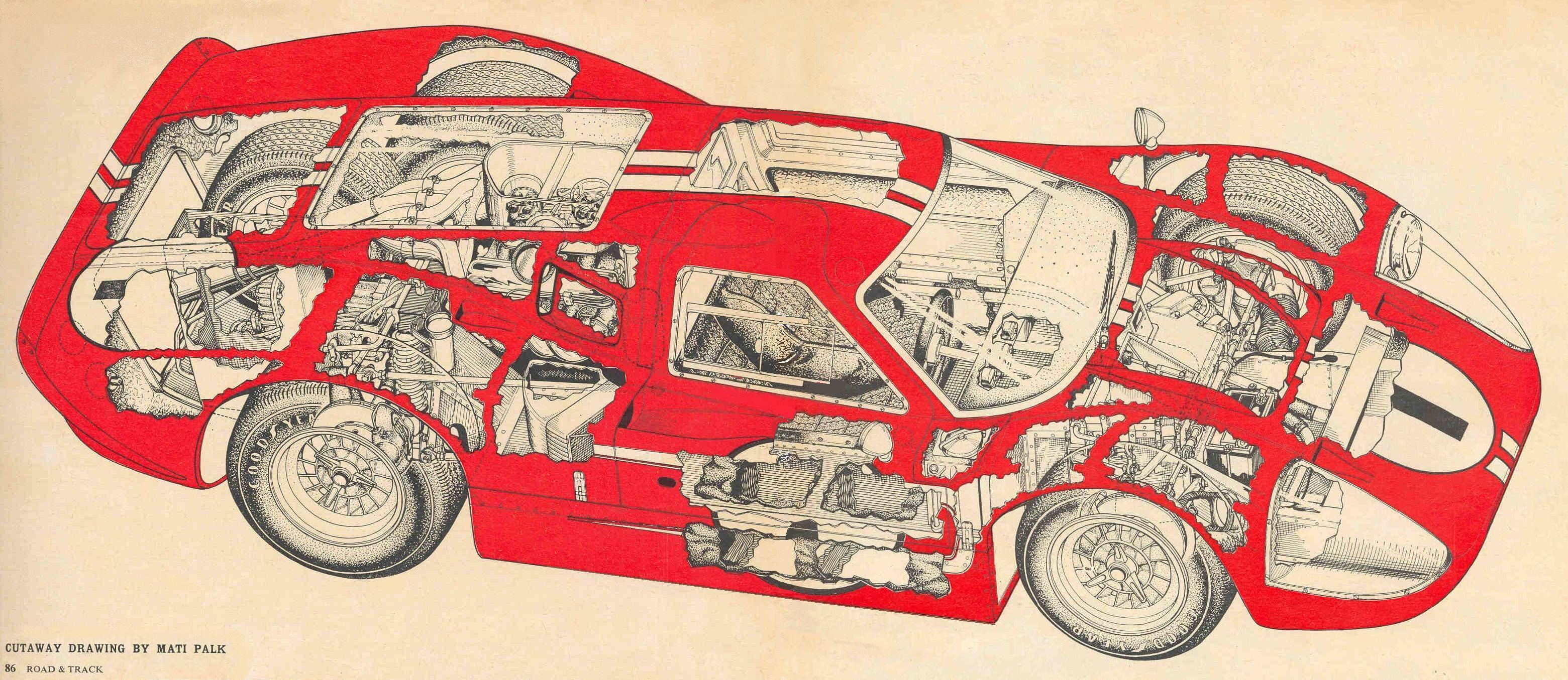 GT40 Cutaway Drawings | GT40 Archives