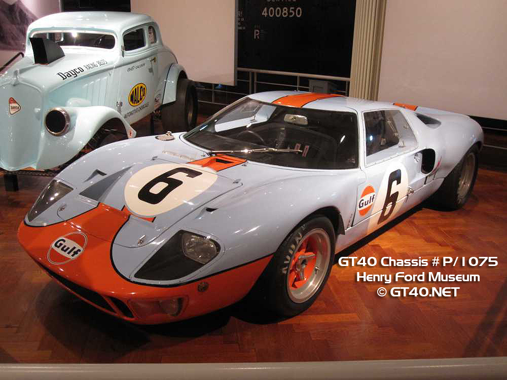 See more photos of GT40 Chassis P/1075 - Click here