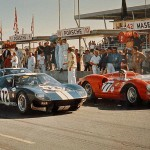 Ford GT40 chassis number GT 104 : 1965 Daytona 2000 Km. On the grid is the #72 Ford GT40 of Bob Bondurant and Richie Ginther
